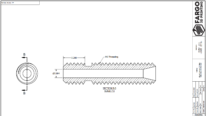thermal barrier tube drawing - thru