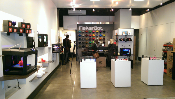 MakerBot retail store inside