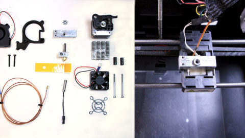 MakerBot extruder parts - 3d printer parts list