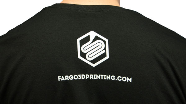 official fargo 3d printing t-shirt back
