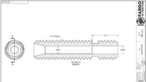 thermal barrier tube drawing - stepped