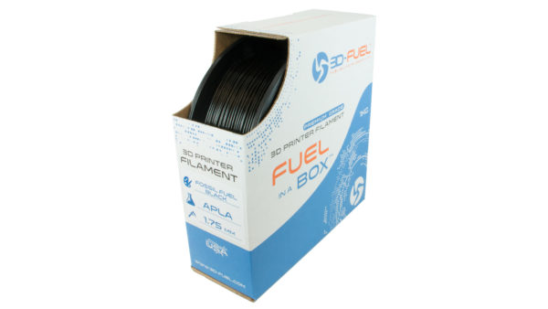 3D-Fuel 1.75mm Fossil Fuel Black APLA spool box