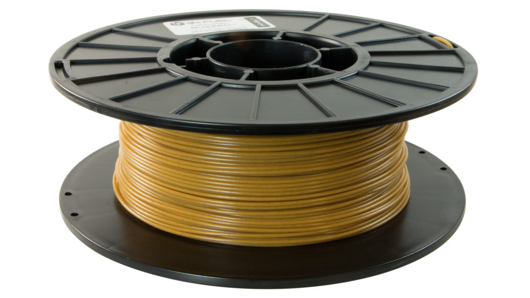 3D-Fuel 1.75mm Buzzed Beer Filament spool horizontal