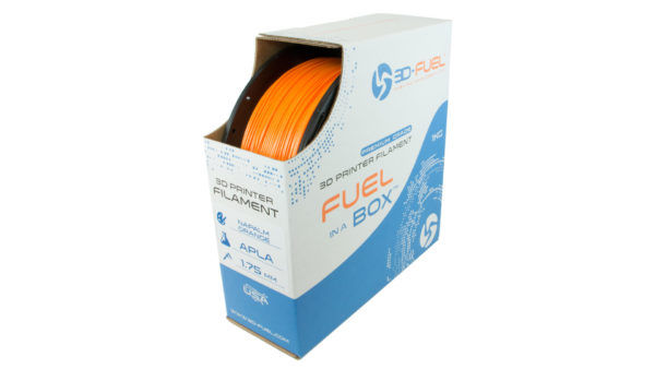 3D-Fuel 1.75mm Napalm Orange APLA spool box
