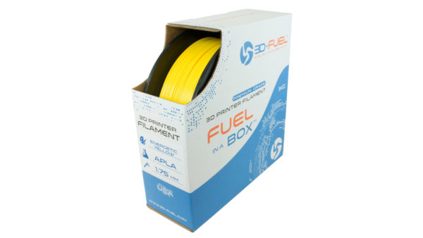 3D-Fuel 1.75mm Energetic Yellow APLA spool box