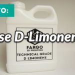How To Use D-Limonene To Dissolve Supports