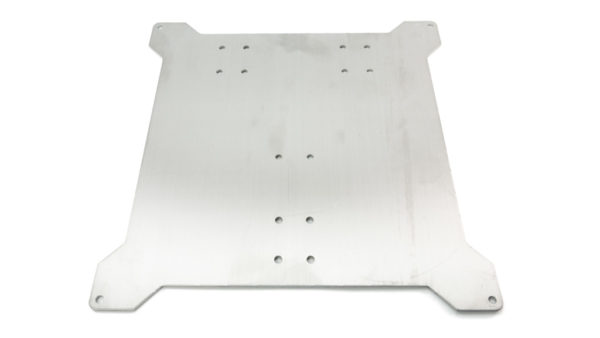 Underside of Replacement Lower Plate for Wanhao i3 Plus