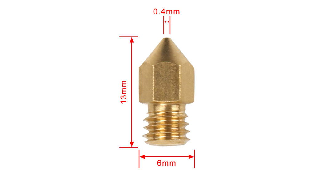 Ender 3 0 4mm Brass Nozzle