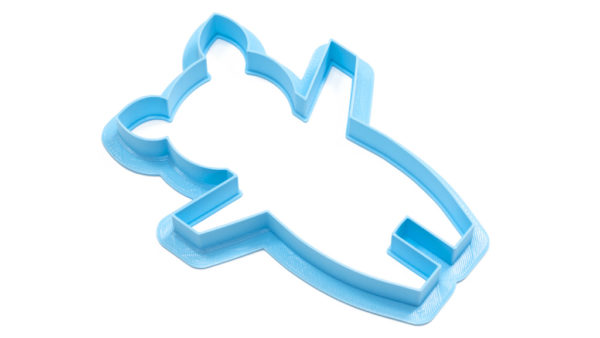 Piggy Cookie Cutter Angle