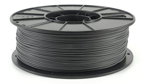 charcoal gray pla filament reel