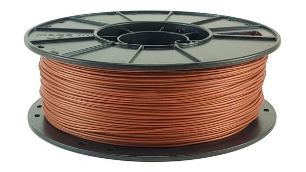 metallic copper pla filament reel
