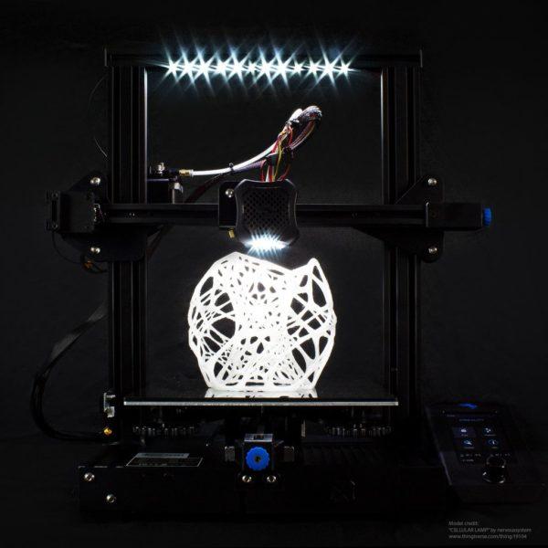 Ender 3 LED lighting kit black background