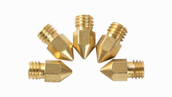 creality brass nozzle 0.4 mm 5-pack 2